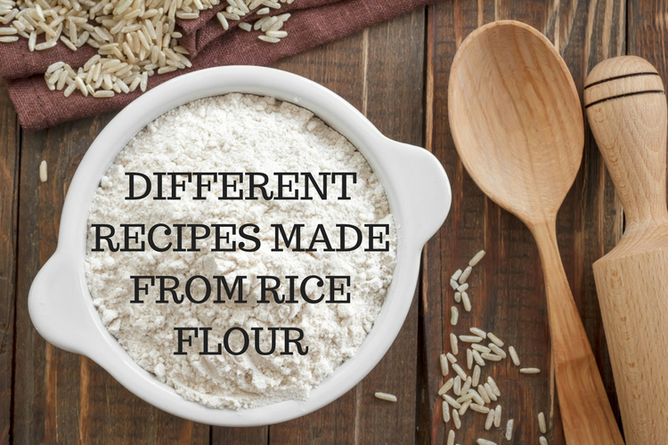Different recipes made from rice flour